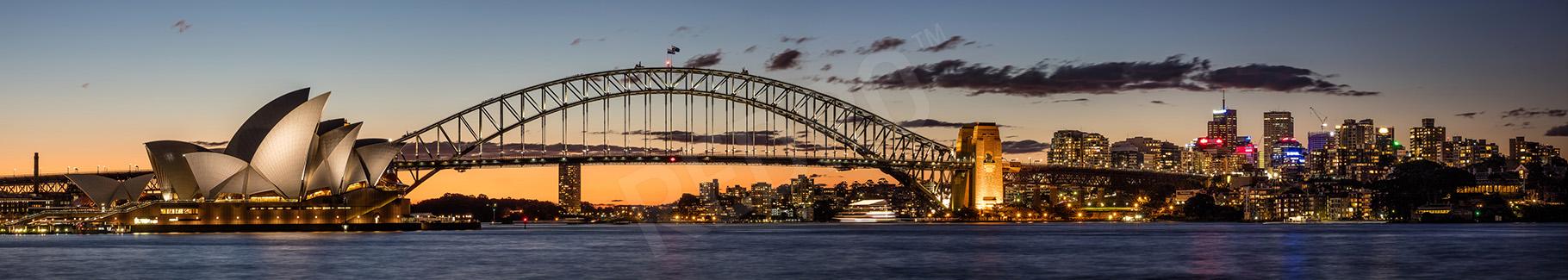 Obraz Australia o zachodzie słońca