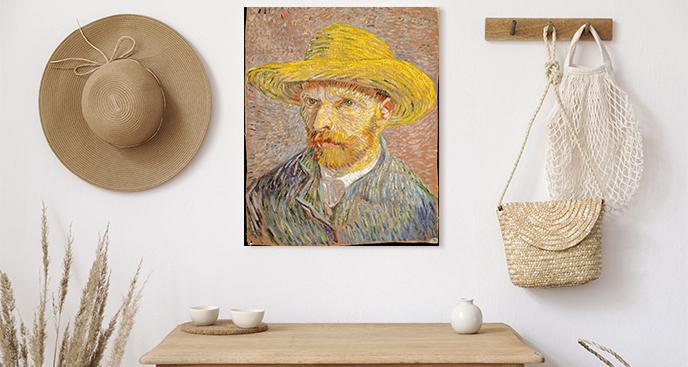 Obraz Autoportret w słomkowym kapeluszu