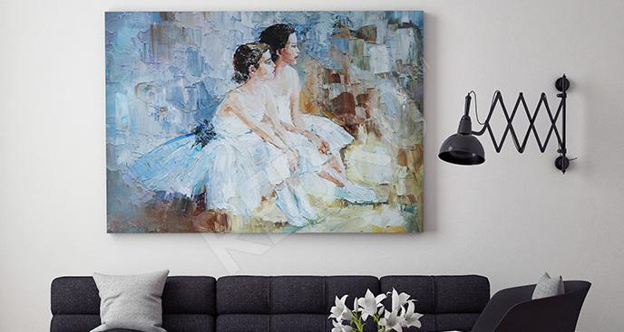 Obraz baleriny do salonu