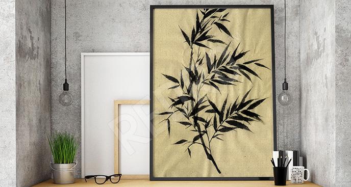 Obraz bambus do biura