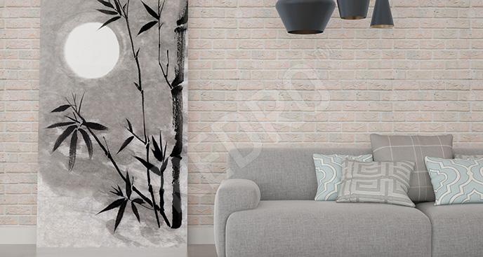 Obraz bambus w stylu minimal