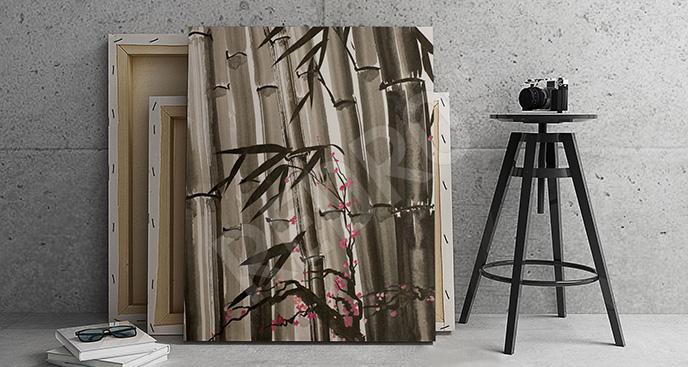 Obraz bambusowe gałązki