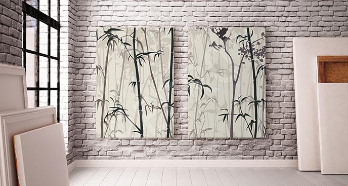 Obraz bambusowe zarośla