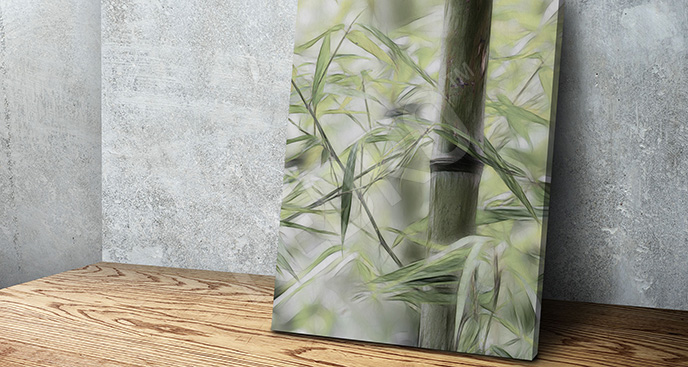 Obraz bambusowy gaj