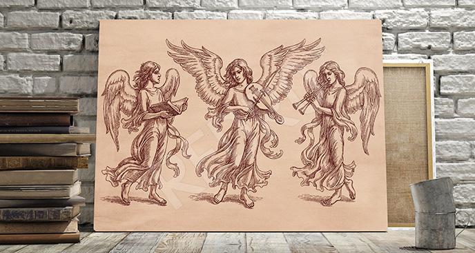 Obraz barokowe anioły