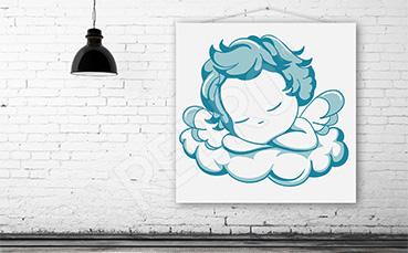 Obraz błękitny aniołek dla dzieci
