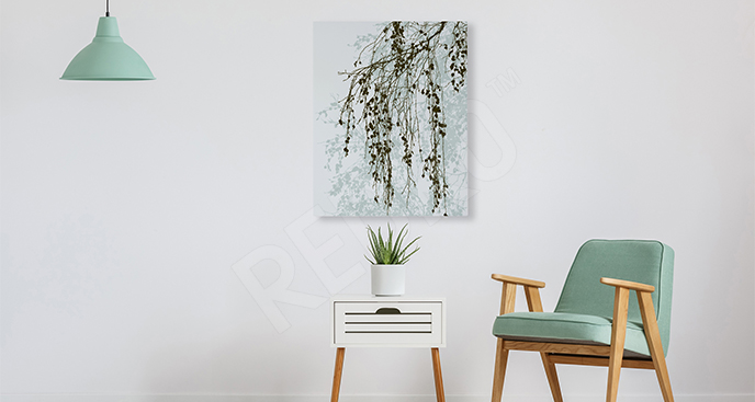 Obraz brzozowa gałązka