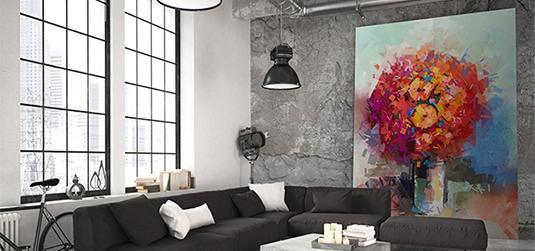 Obrazy z kwiatami - pomysły na wnętrza z wykorzystaniem klasyki