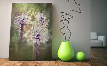 Obraz malarstwo bukiet kwiatów