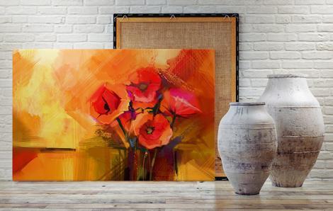 Obraz bukiet kwiatów malarstwo