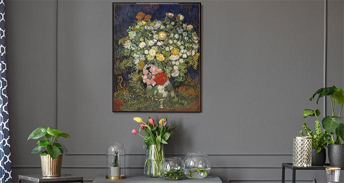 Obraz Bukiet kwiatów w wazonie
