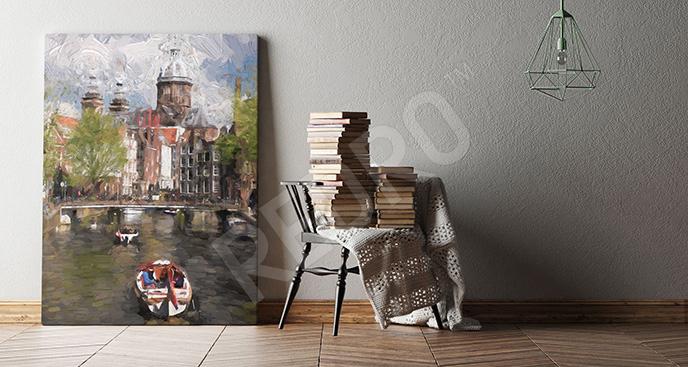 Obraz centrum Amsterdamu