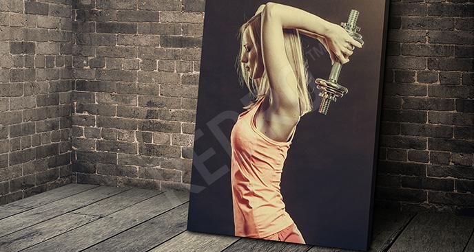 Obraz ćwicząca kobieta