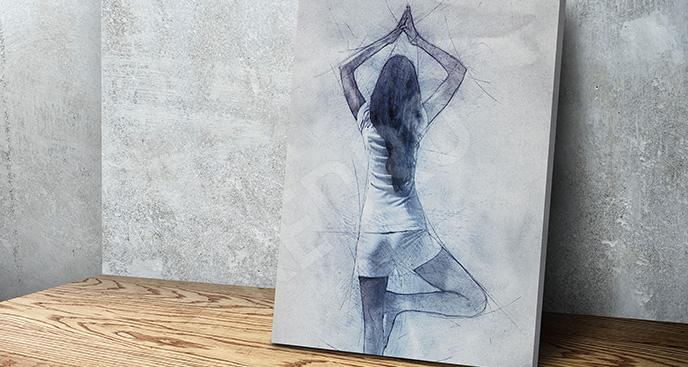 Obraz ćwiczenia szkic