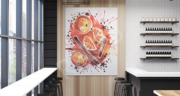 Obraz cynamon i pomarańcze