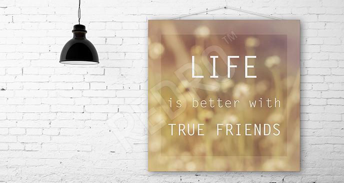 Obraz cytat o przyjaźni