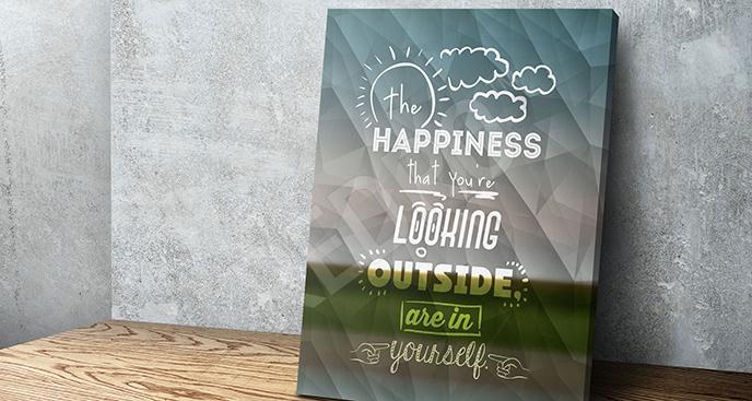 Obraz cytat o szczęściu