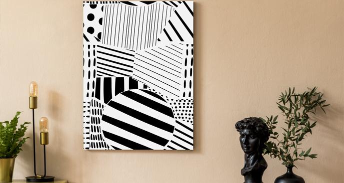 Obraz czarno-biała geometria