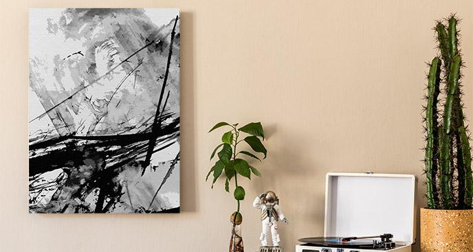 Obraz czarno-biały motyw