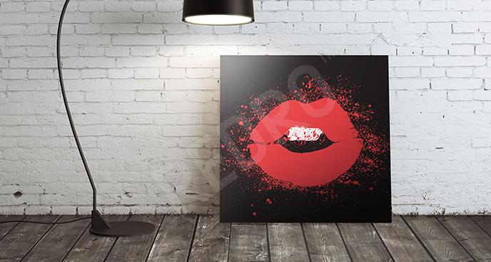 Obraz czerwone usta