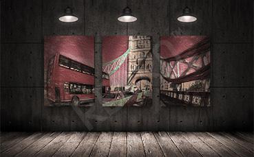 Obraz czerwony autobus w Londynie