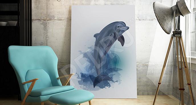 Obraz delfin dla nastolatka