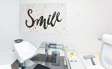 Obraz dentystyczny typografia