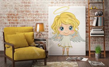 Obraz dla dzieci z małym aniołem
