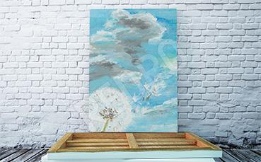 Obraz dmuchawiec na tle nieba