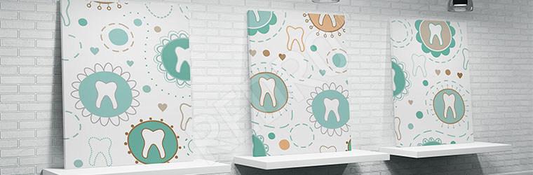 Obraz do dentysty kolorowy motyw
