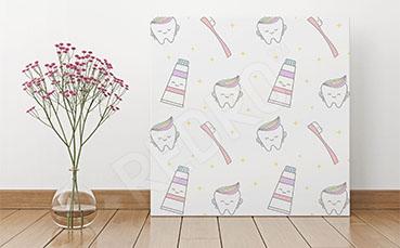 Obraz do dentysty pasta i szczoteczka