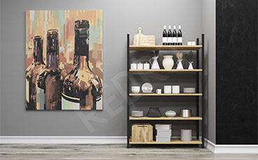 Obraz do kuchni butelki wina