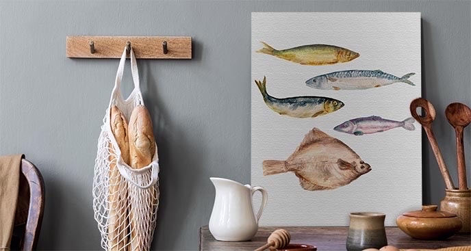 Obraz do kuchni z rybami
