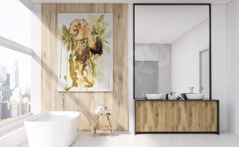 Obraz do łazienki akwarela