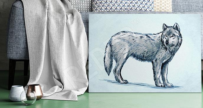 Obraz do pokoju dziecka wilk