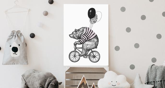 Obraz do pokoju dziecka z niedźwiadkiem
