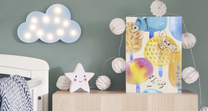 Obraz do pokoju dziecka z sowami