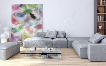 Obraz do salonu kolorowe pióra