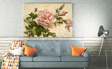 Obraz do salonu kwiat róży