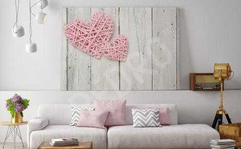 Obraz do salonu serce