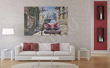 Obraz do salonu uliczka