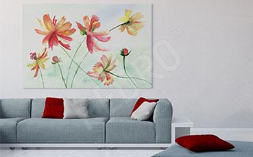 Obraz do salonu z kwiatami