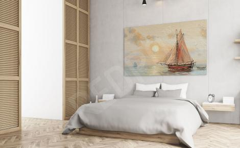 Obraz do sypialni łodzie rybackie