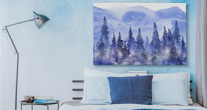 Obraz do sypialni szkic