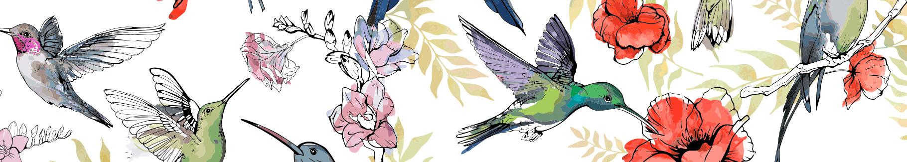 Obraz do sypialni z kolibrami