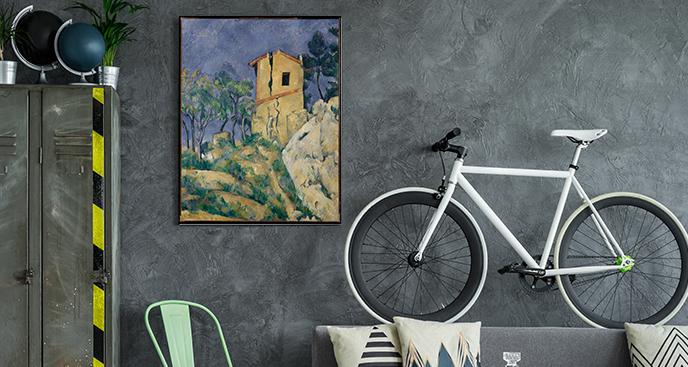 Obraz Dom z popękanymi ścianami