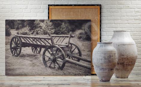Obraz drewniany wóz