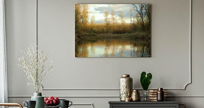 Obraz złote liście drzew