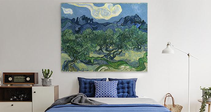 Obraz Drzewa oliwne z Alpilles w tle