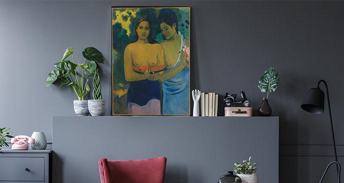 Obraz Dwie tahitańskie kobiety